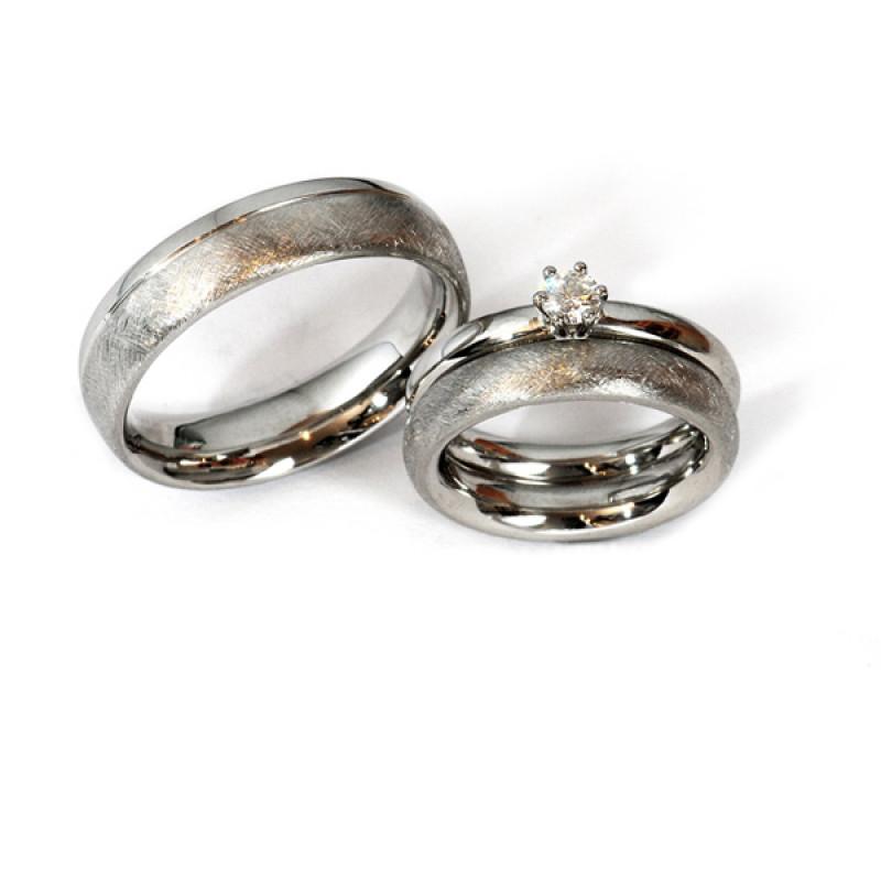 Verlobungsring Ehering Palladium Brillant (1007274)