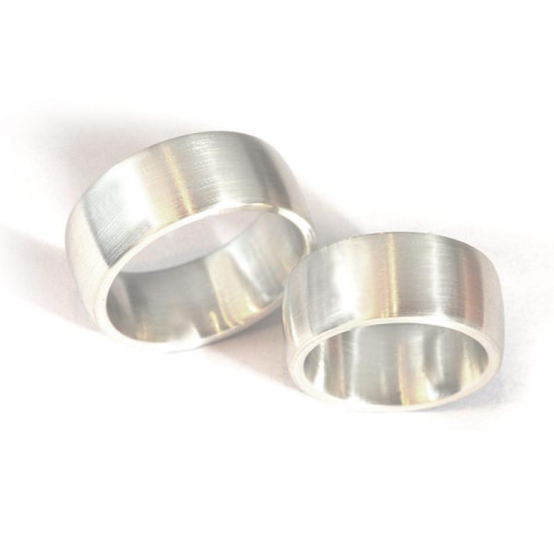 Partnerringe Silber matte Oberfläche (1007308)