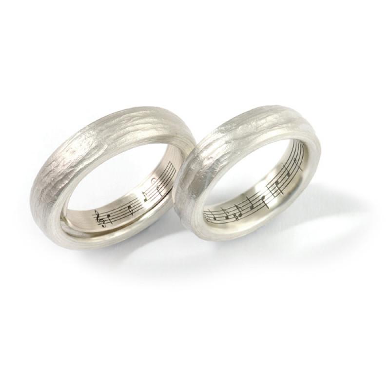 Freundschaftsringe Silber mit Struktur (1007746)