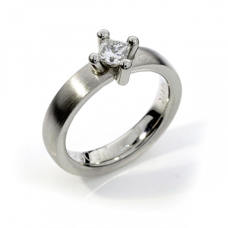 Verlobungsring Diamant Princess Palladium (250009)