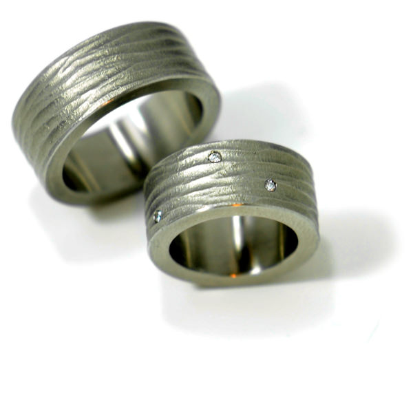 Eheringe Stahl Brillanten (250028)
