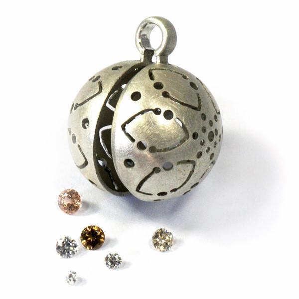 Ich-will-Kugel Silber Verlobung alternative (250181)