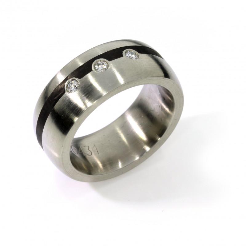 Verlobungsring Stahl Brillanten (250431)
