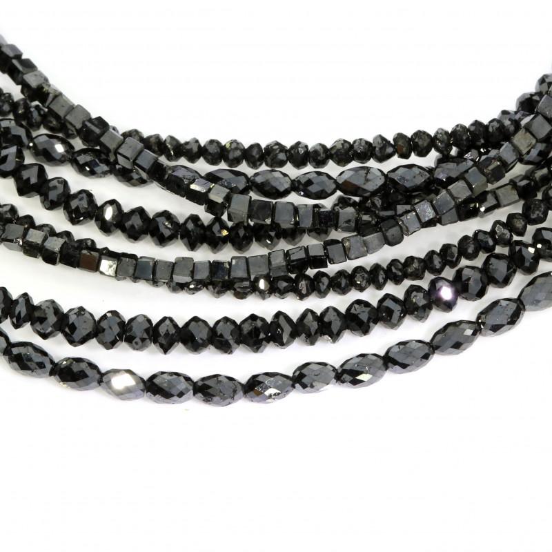Diamantcolliers schwarz (250917 2509242 50765 251312)