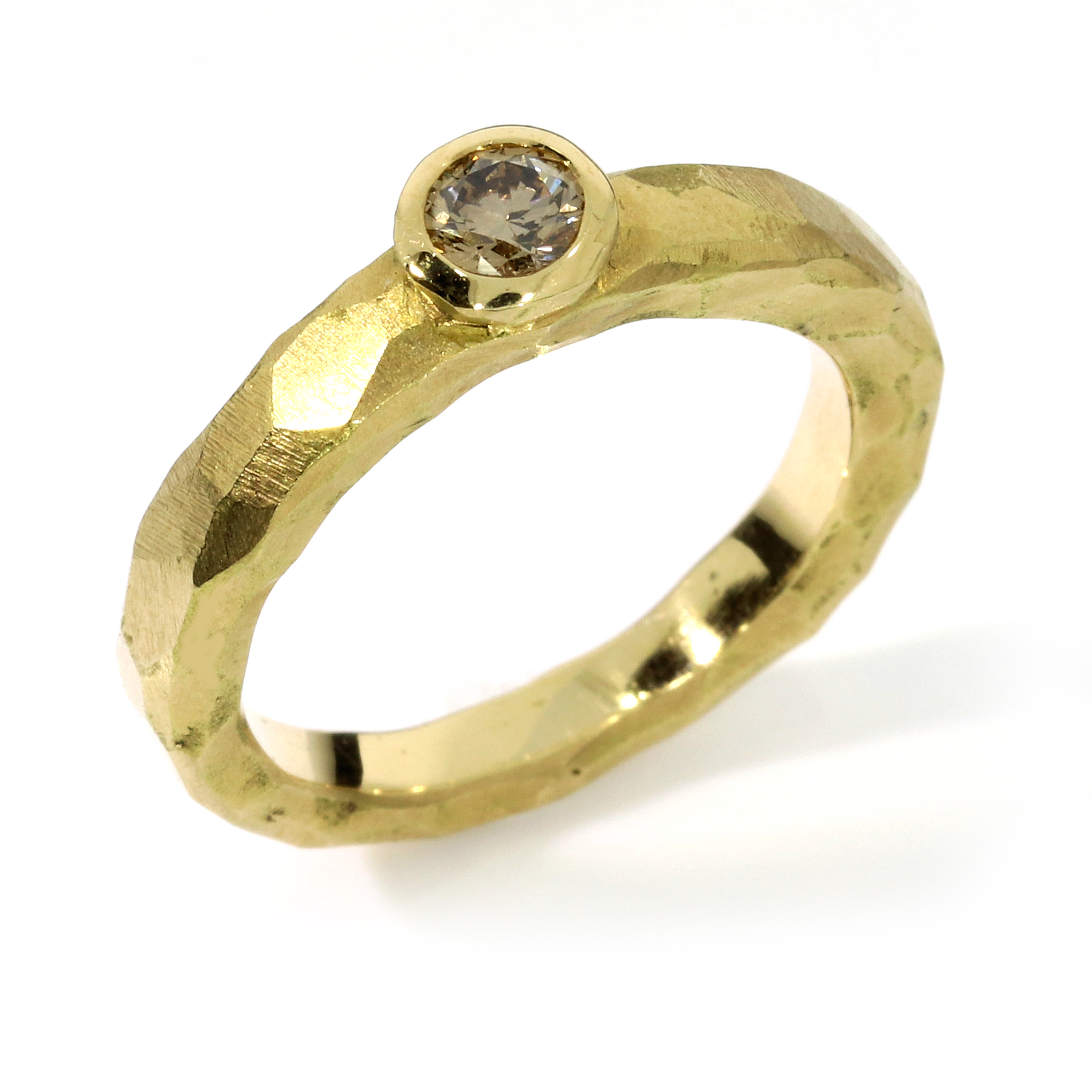 Verlobungsring Fairtrade Gelbgold weisser Brillant Australien (251120)