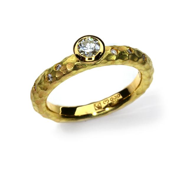 Verlobungsring Fairtrade Gelbgold Brillanten weiss (Australien) (251121)