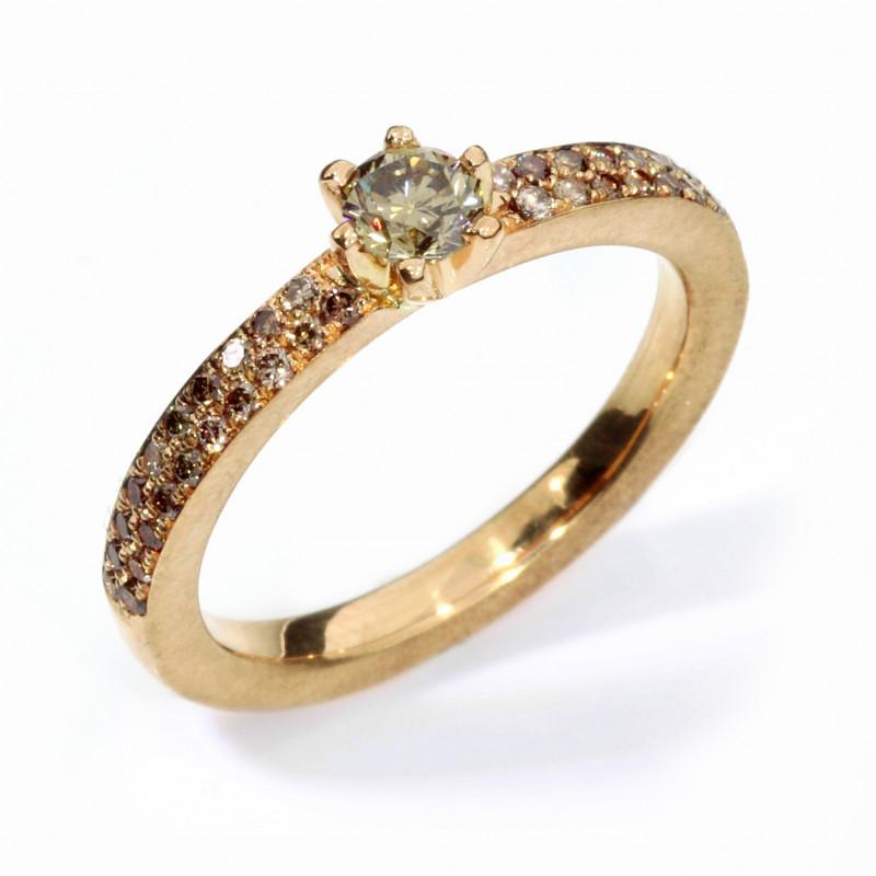 Verlobungsring Rosegold Fairtrade Brillanten (251125)