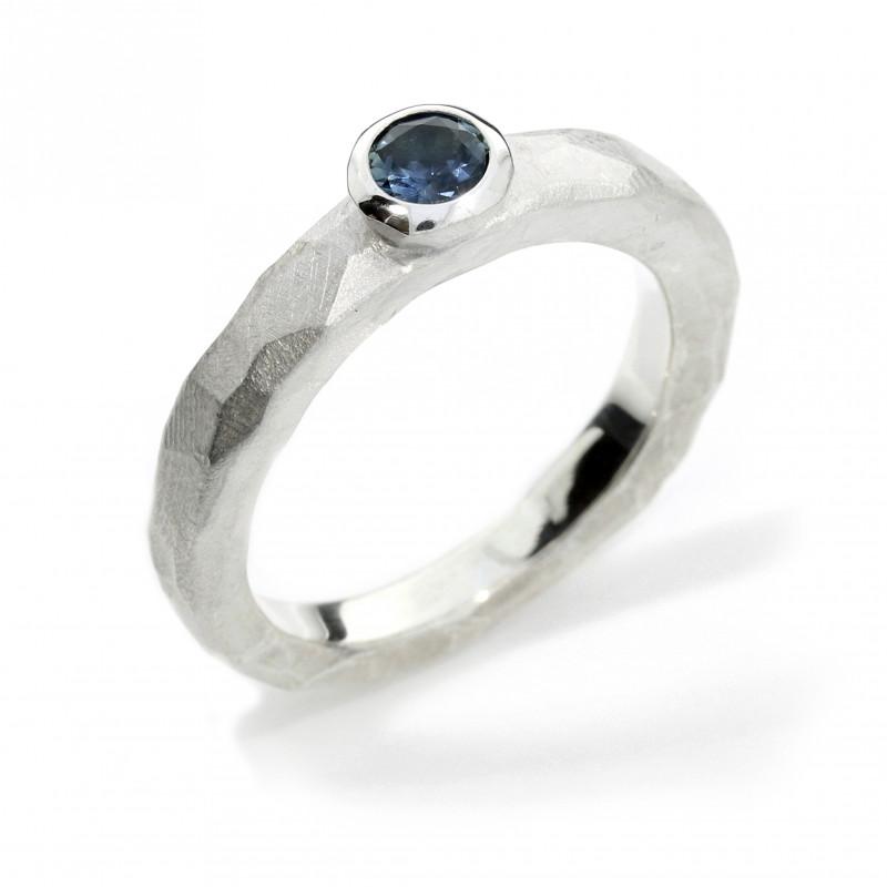 Verlobungsring Silber Montana Saphir (251135)